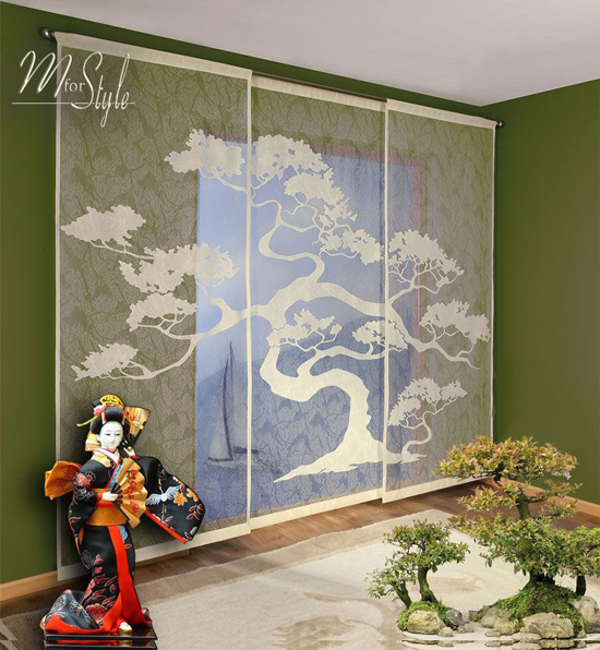 Set Of 3 Net Sheer Window Panels Blinds Curtains Fly